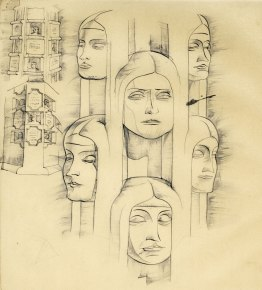 column-faces-women